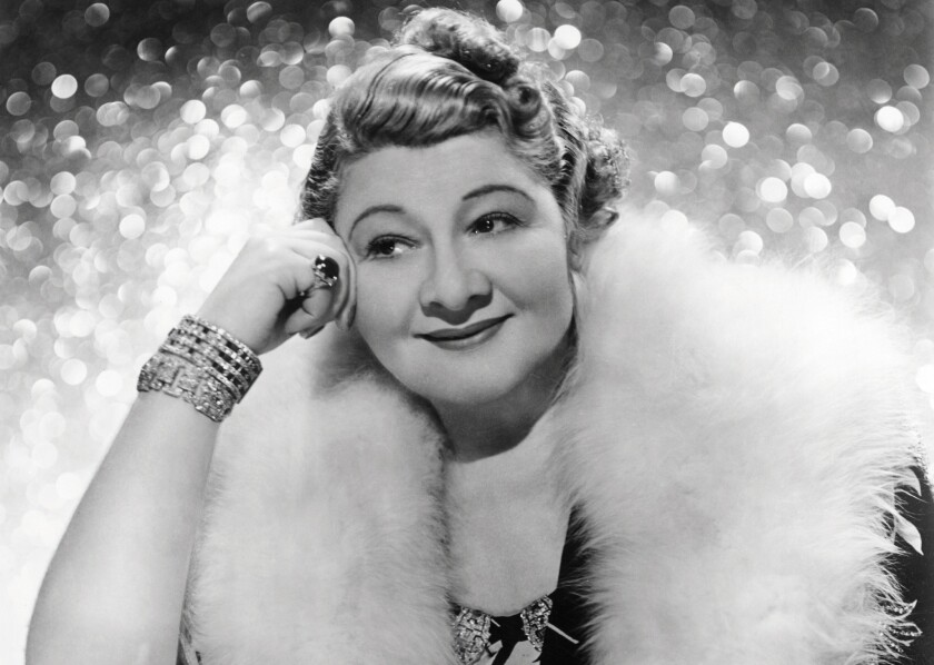 Singer and actress Sophie Tucker.