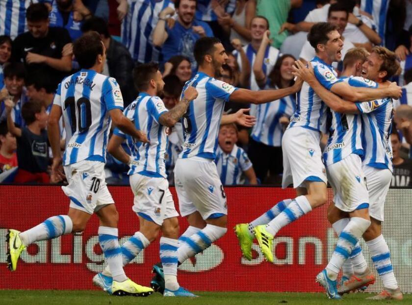 2-0. La Real brilla en el nuevo Anoeta ante un Atlético desconocido