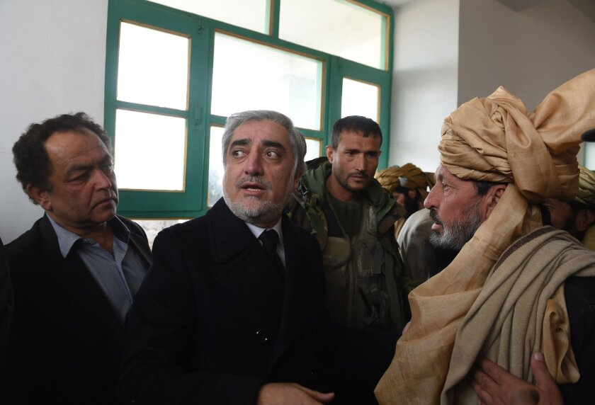 Afghanistan's chief executive, Abdullah Abdullah
