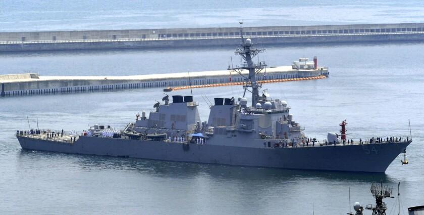 The U.S. destroyer Curtis Wilbur is shown in 2010.