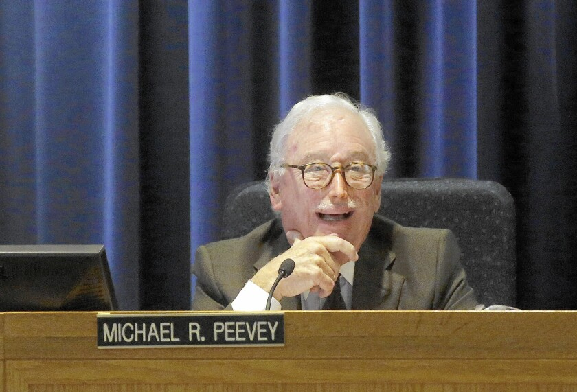 Former California Public Utilities Commission President Michael Peevey stepped down from the panel Dec. 31 after two six-year terms as president.