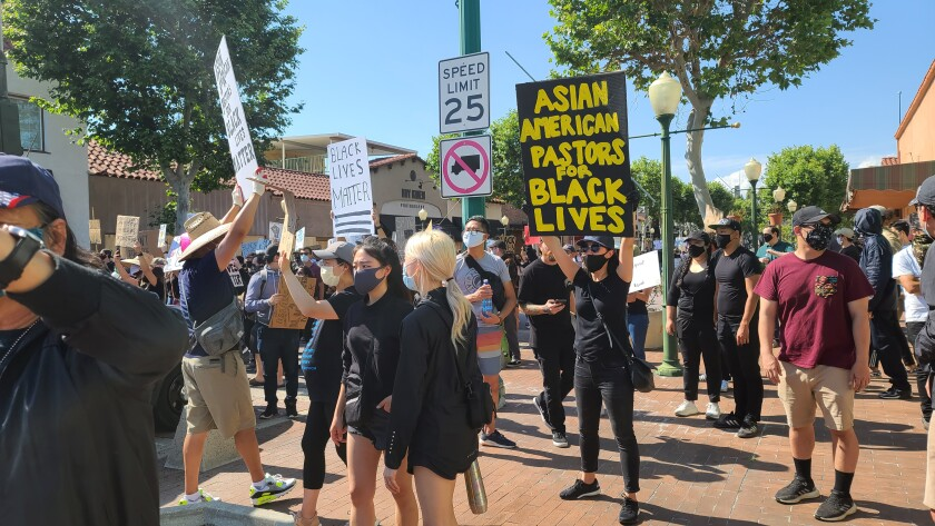 Garden Grove Black Lives Matter protest