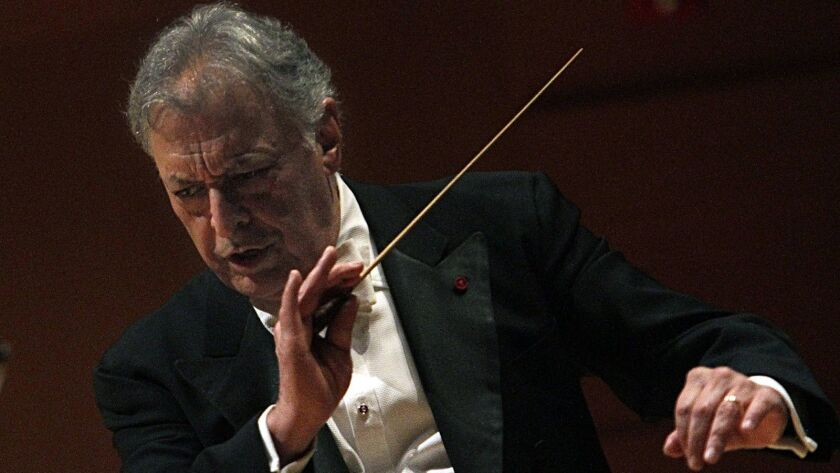 Conductor Zubin Mehta leads the L.A. Phil in an all-Brahms program on Sunday.