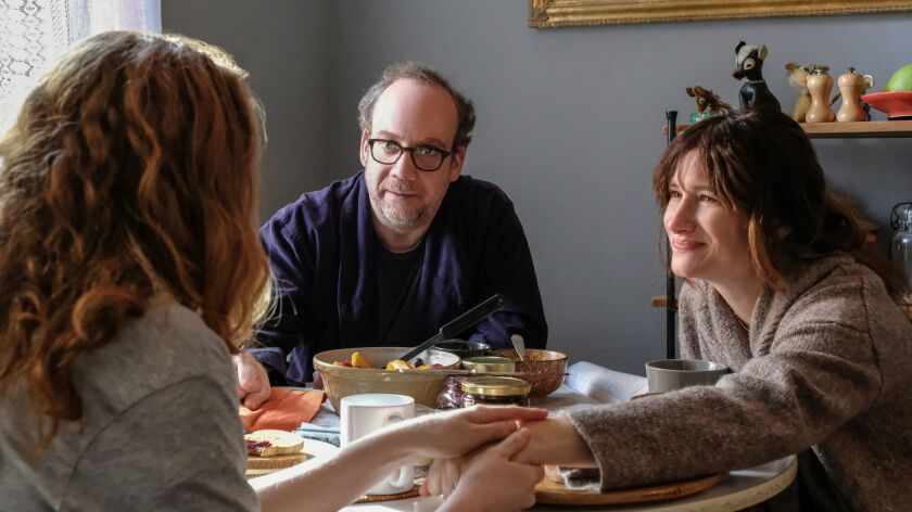 """Paul Giamatti and Kathryn Hahn in a scene from the movie """"Private Life."""""""