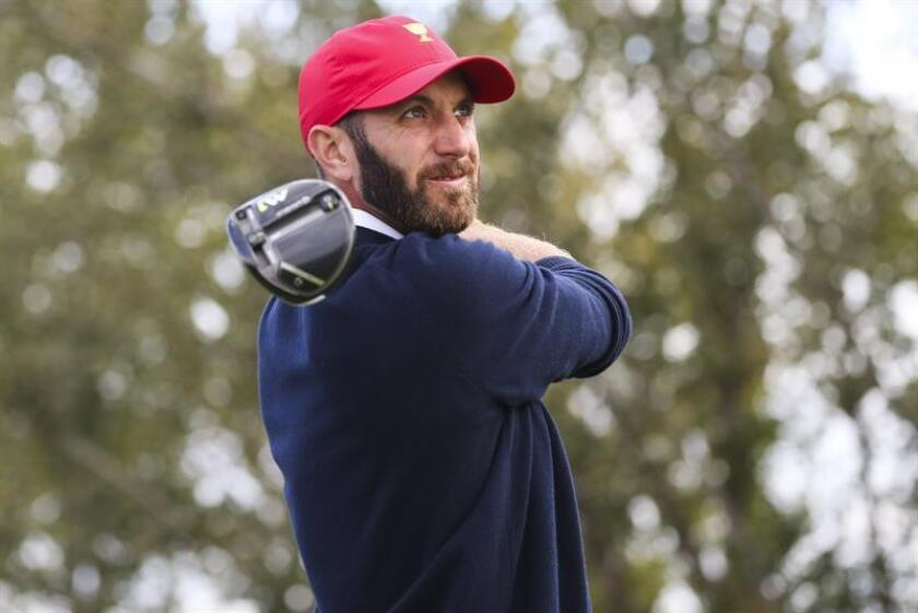 En la imagen el golfista estadounidense Dustin Johnson. EFE/Archivo