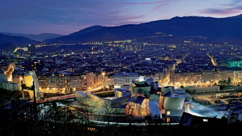 "The Guggenheim Bilbao, which opened in 1997, put the Spanish city of Bilbao and Gehry ""on the map,"""