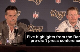 Five highlights from the Rams' pre-draft news conference