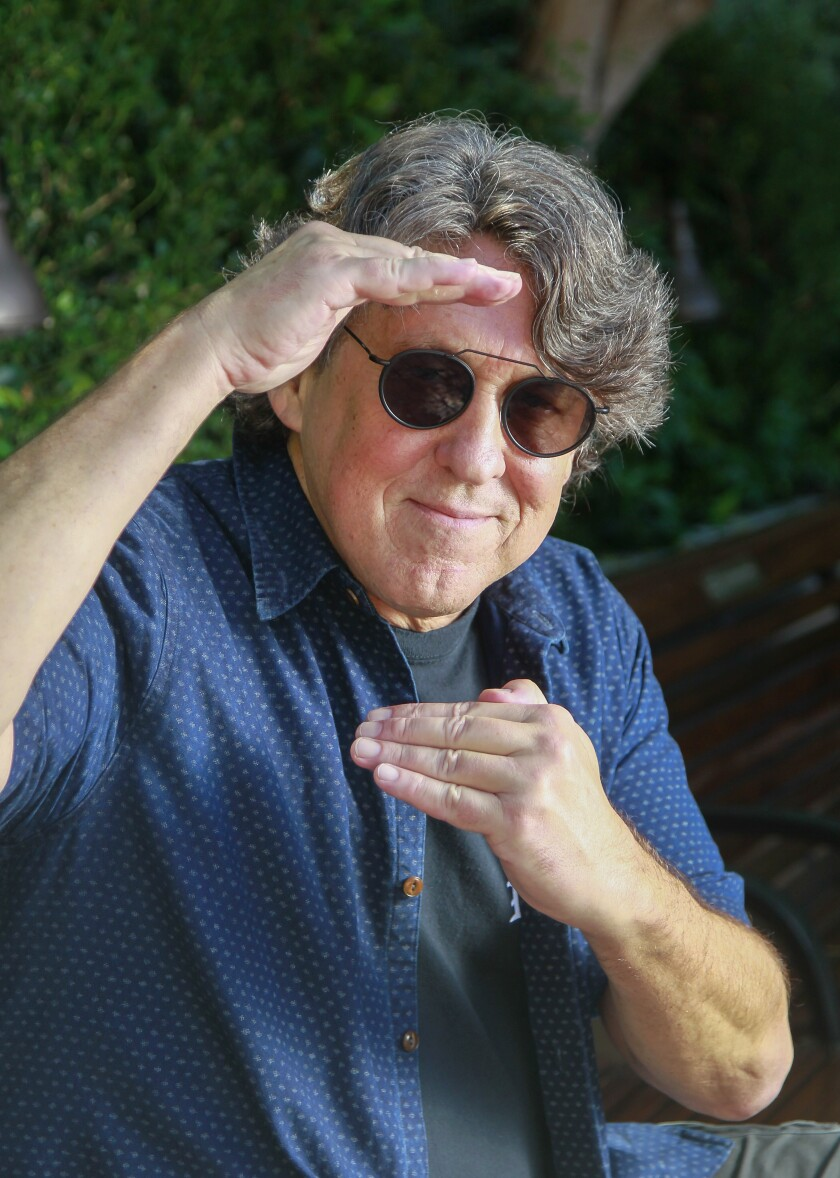 Oscar-winner and former San Diegan Cameron Crowe, photographed near the Old Globe Theatre in Balboa Park.