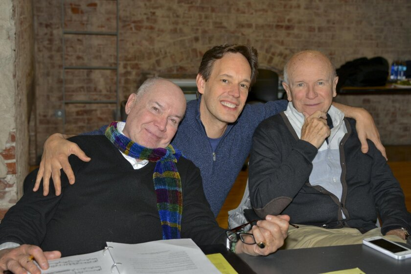 The trio behind the opera — director Jack O'Brien, composer Jake Heggie and librettist Terrence McNally.
