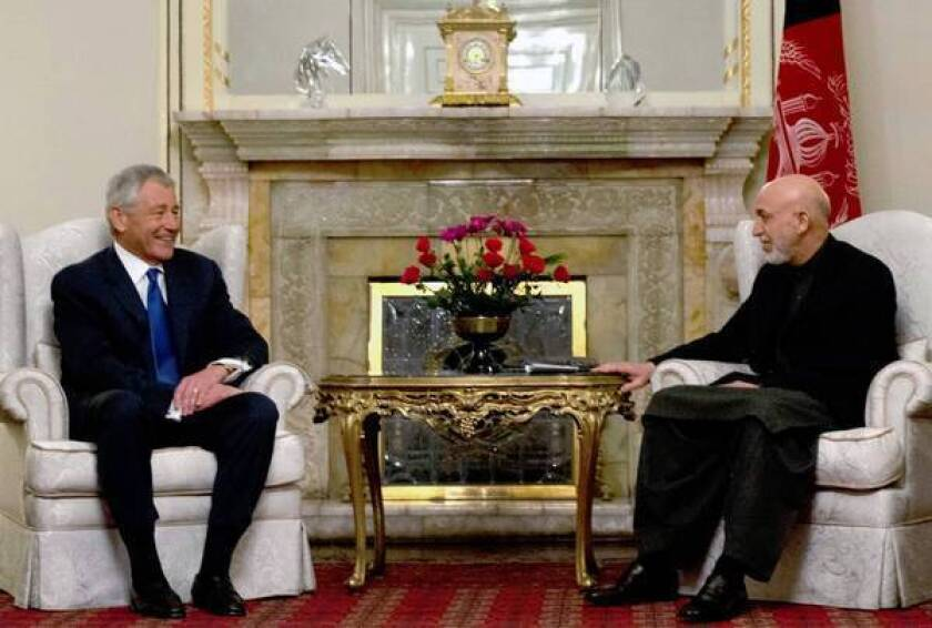 Afghan president lashes out at U.S., straining Hagel visit