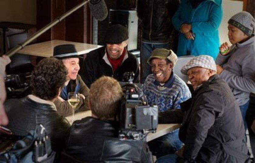 """Paul Simon's film """"Under African Skies"""" will be shown on opening night at the San Diego Jewish Film Festival.  (Simon is in the photo above, second from left).  Photo courtesy of San Diego Jewish Film Festival."""