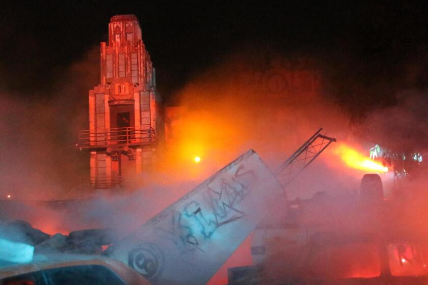 'Aftermath 2: Chaos Rising' is a sprawling walk-through of an immersive, post-apocalyptic environment at Six Flags Magic Mountain's Fright Fest. This maze is an impressive, visual wonder with towering-and-destroyed buildings, fire and smoke effects.