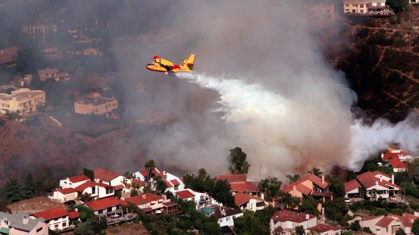 Hot, dry fire-prone neighborhoods in the hills