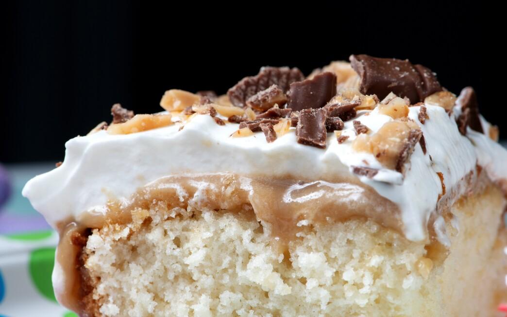 Candy Bar Sheet Cake