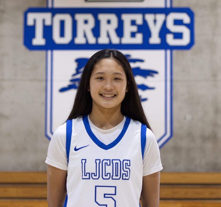 La Jolla Country Day School sophomore basketball player Sumayah Sugapong has been named to the Junior NBA Court of Leaders.