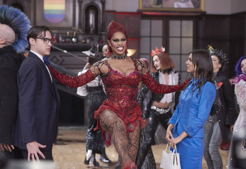"""Ryan McCartan, Laverne Cox and Victoria Justice in """"The Rocky Horror Picture Show: Let's Do the Time Warp Again,"""" premiering Oct. 20 on Fox."""