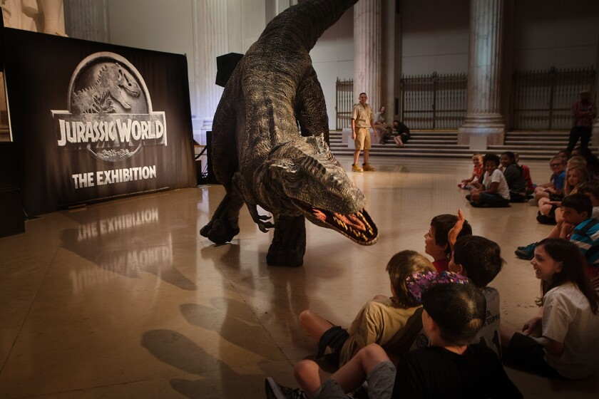 """Jurassic World: The Exhibition"" at the Franklin Institute in Philadelphia."