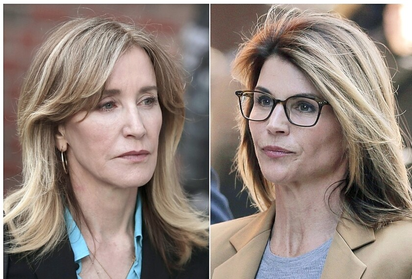 La actrices Felicity Huffman y Lori Loughlin se vieron involucradas en el escándalo.
