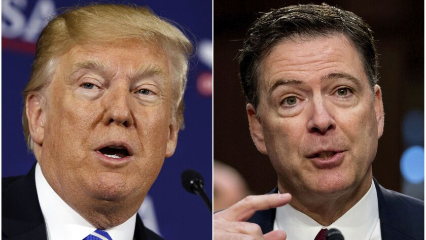 President Trump and former FBI Director James B. Comey.