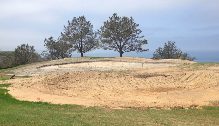 The Torrey Pines fifth green has been made more level.