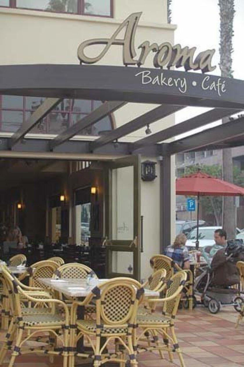 Aroma Cafe is on Prospect Street in La Jolla. Photo: Phyllis Pfeiffer