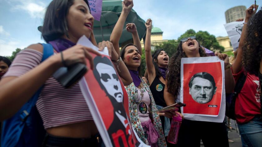 BRAZIL-ELECTION-BOLSONARO-WOMEN-PROTEST