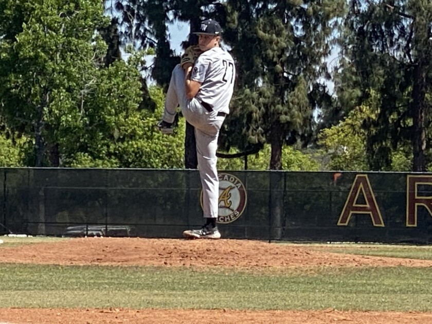 Freshman Bryce Rainer of Harvard-Westlake struck out nine in five innings to improve to 8-0.