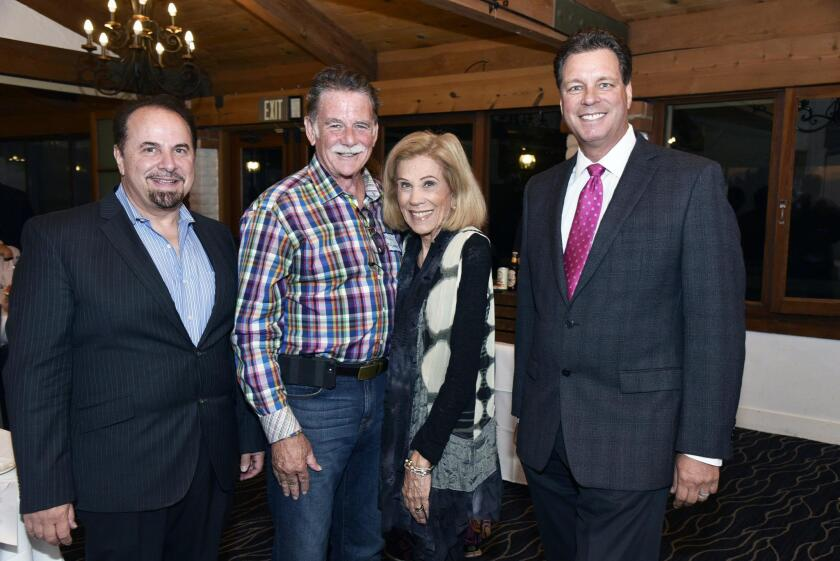 Gary Gartner, Paul and Maria McEneany, 75th Assembly candidate Alan Geraci