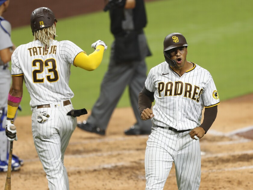 The Padres continue gaining ground on the Dodgers with moments like Trent Grisham's solo home run Monday at Petco Park.