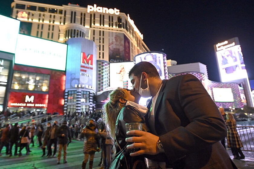New years eve on the strip