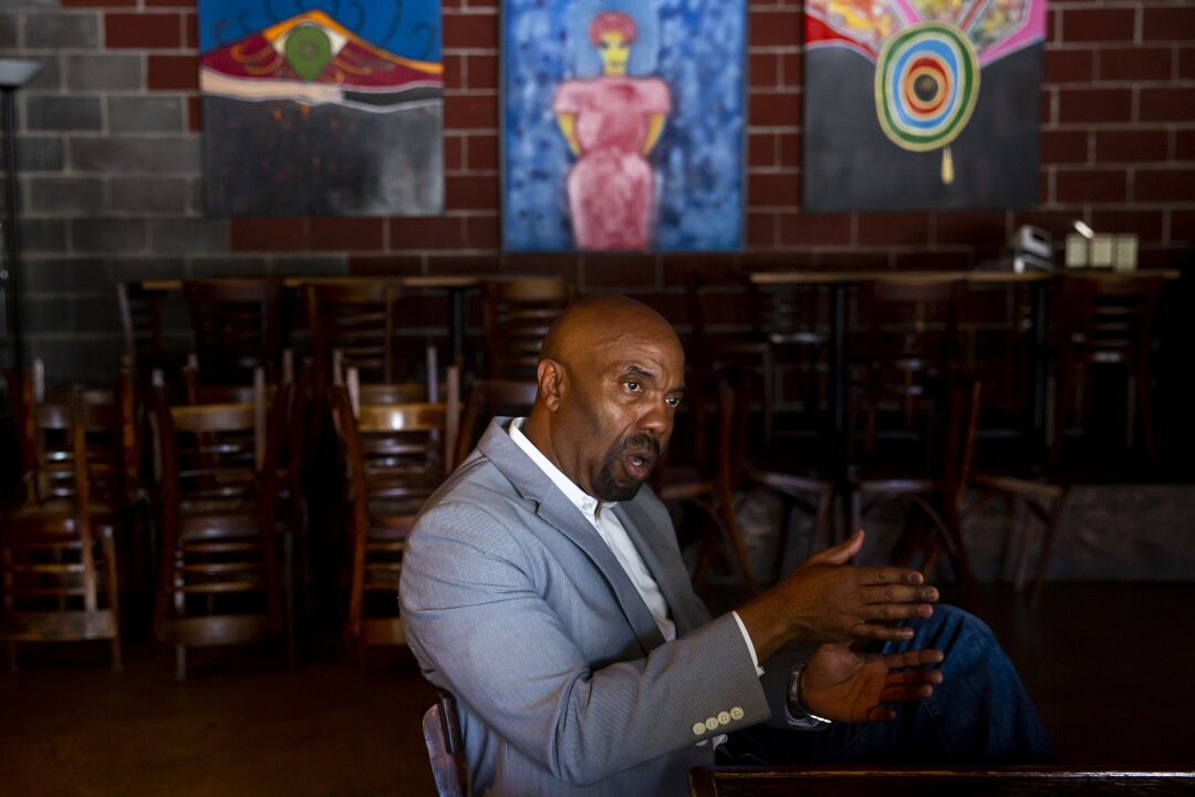Civil rights attorney Daryl Washington at the Breakfast Klub in Houston on Sunday.