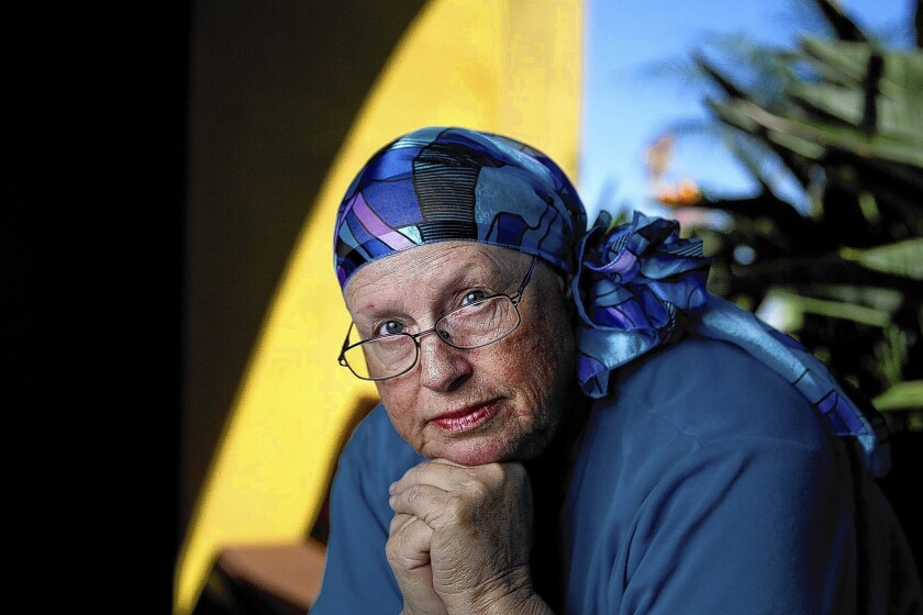 Barbara Garnus of Laguna Woods, who is recovering from a rare form of uterine cancer.