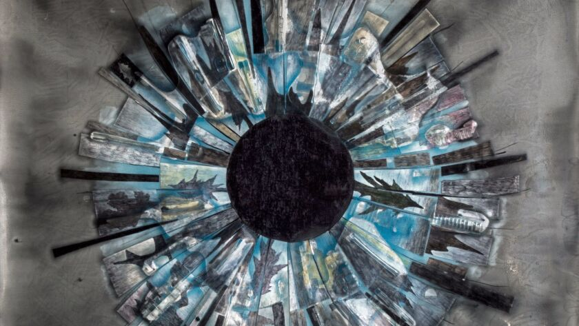 "Russell Crotty's ""Blue Totality"" (detail; work shown in full below)."