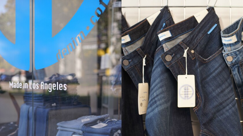 A look at the 1denim store and some of its jeans, which start at $89 for women and $99 for men.