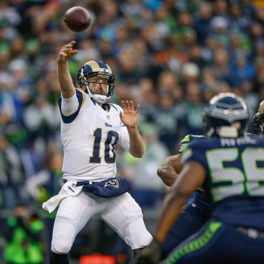 St. Louis Rams' backup quarterback got crushed by the Seahawks last season. Next year in L.A.?