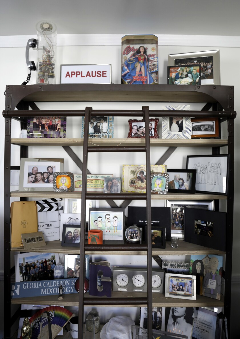 CULVER CITY, CA - FEBRUARY 22, 2019: A detail in the office of Gloria Calderon Kellett, the co-showr