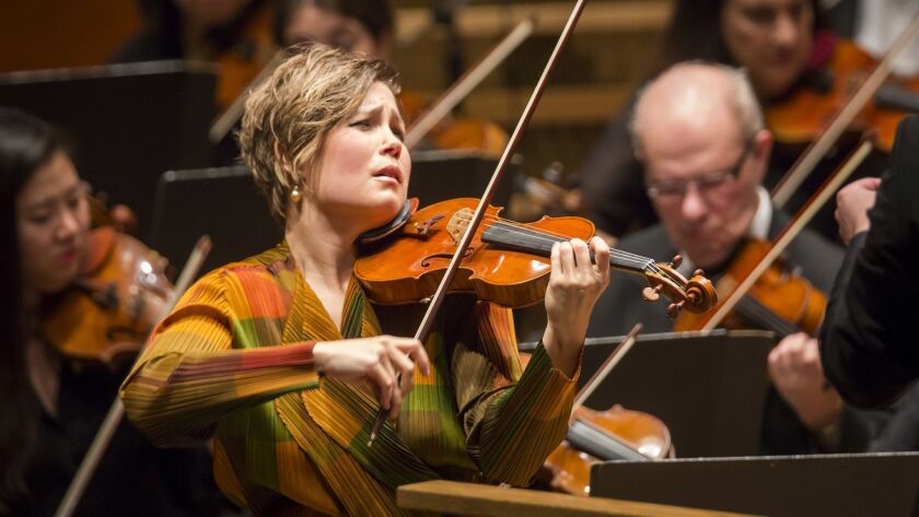 Alan Gilbert conducts world premiere work by John Adams with Leila Josefowicz as soloist at Avery Fi