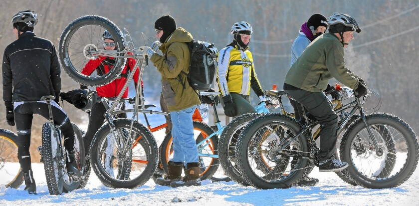 Minneapolis bicyclists adapt to the winter conditions each year. The city has an estimated 7,000 year-round bike commuters.