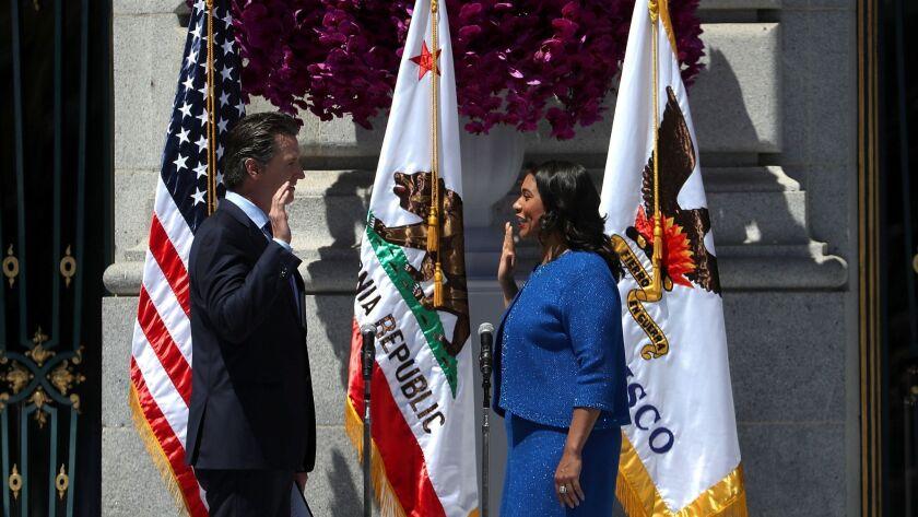 London Breed Sworn In As San Francisco Mayor