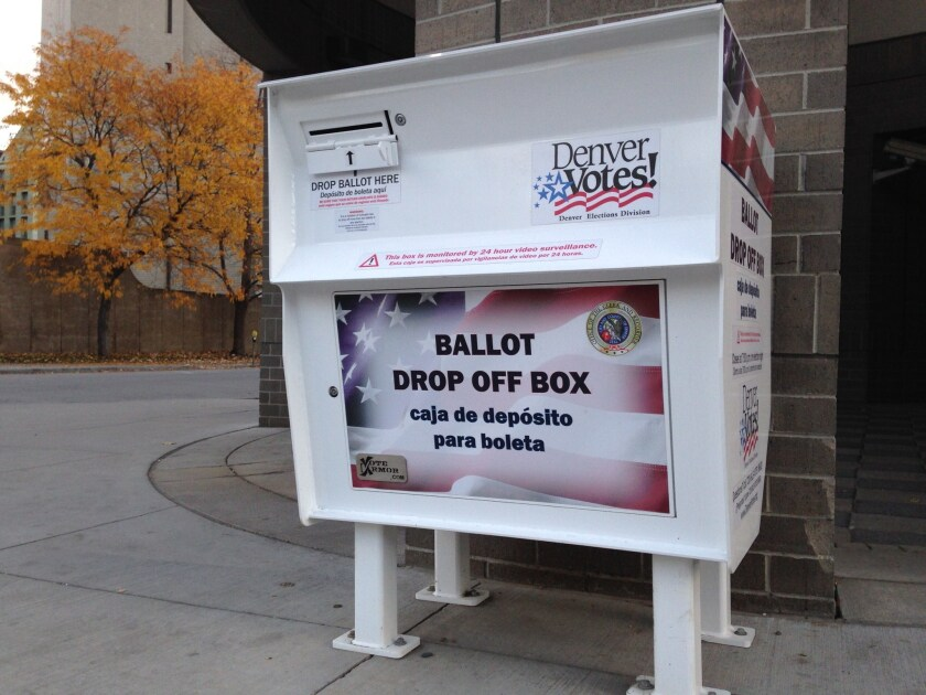 Colorado has already moved over to 100% mail or drop-off voting.
