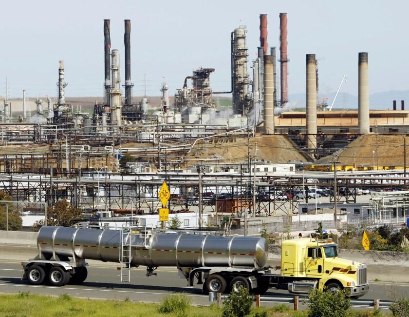 The Chevron oil refinery in Richmond
