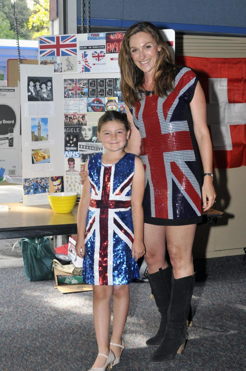 Kate Franklin and Tess in their English attire