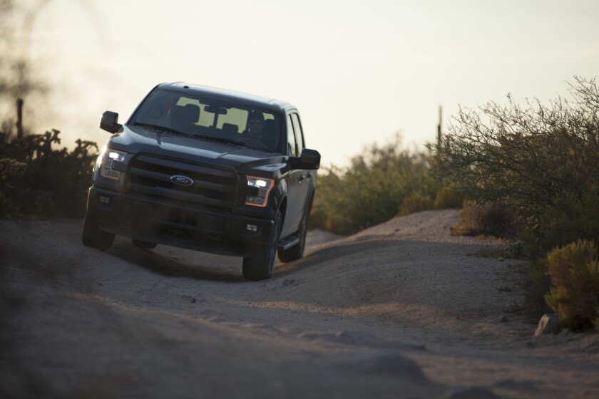 The 2015 F-150 Ford pickup truck.