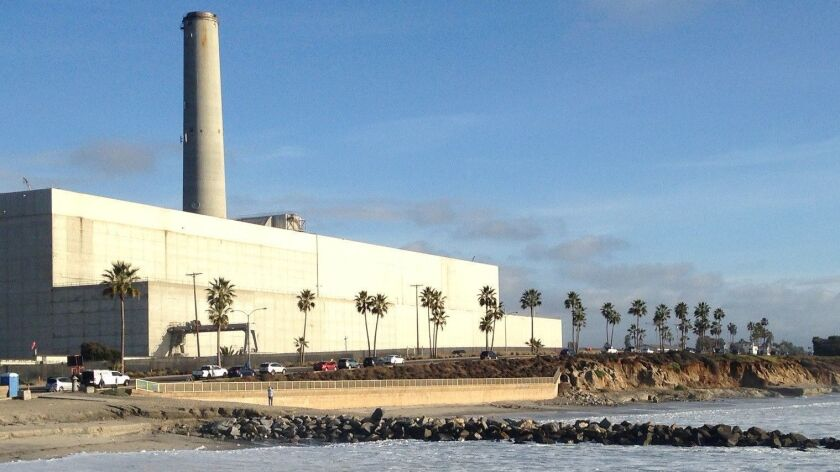 The Encina power plant, built in 1954, will be replaced by the 500-megawatt Carlsbad Energy Center, which is under construction.