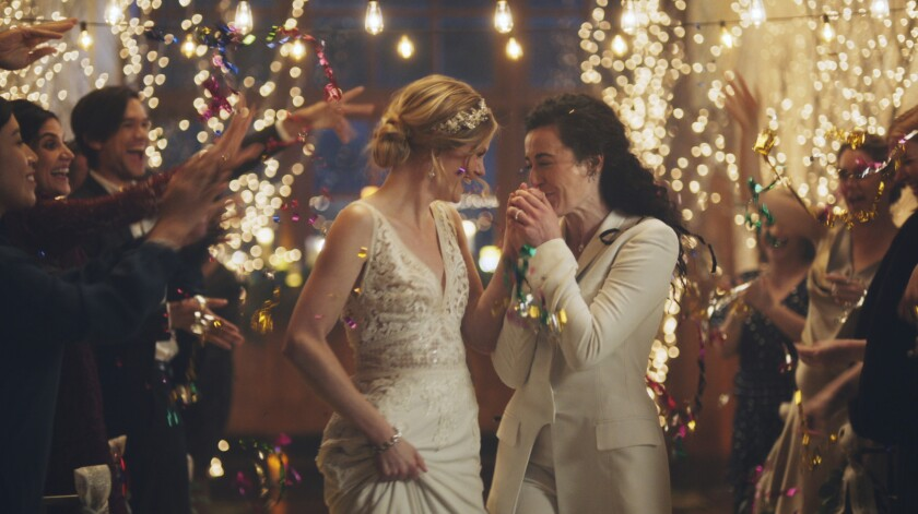 A scene from the Zola wedding ad that the Hallmark Channel pulled.