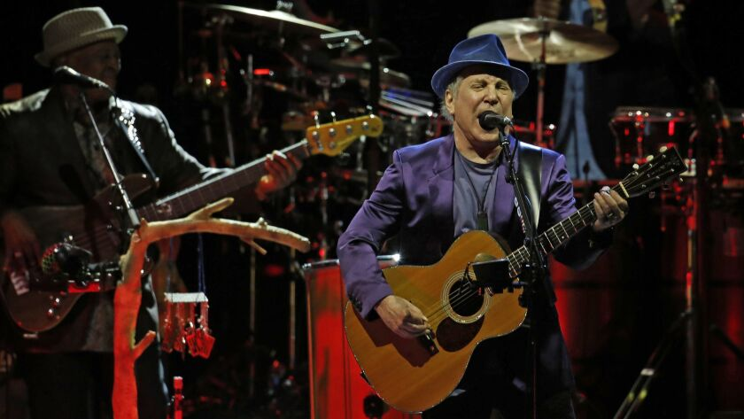Los Angeles, CA - June 1, 2016: Paul Simon performs at the Hollywood Bowl in Los Angeles, CA. (Photo