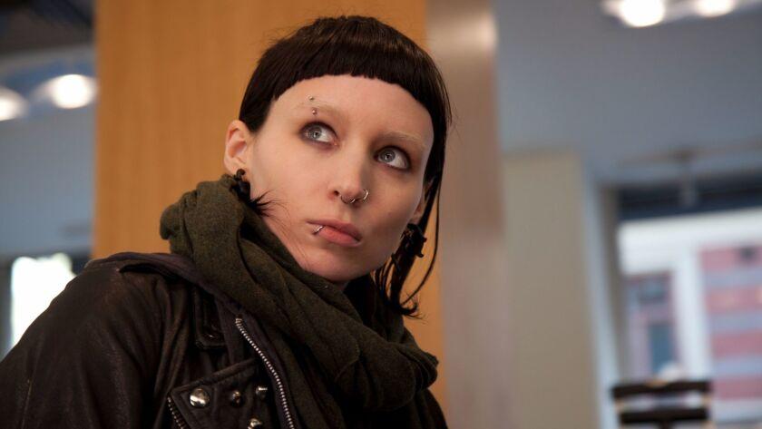"""Rooney Mara en una escena de la película """"The Girl With The Dragon Tattoo"""" (La chica con el dragón t"""