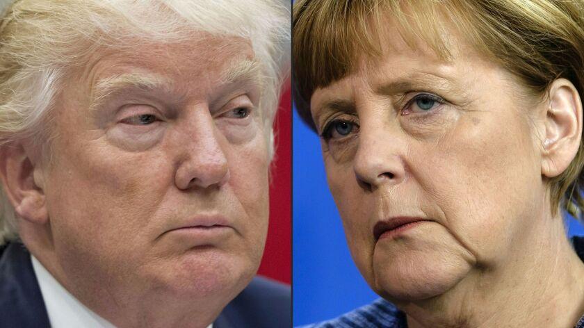 COMBO-FILES-GERMANY-US-POLITICS-DIPLOMACY-TRUMP-MERKEL