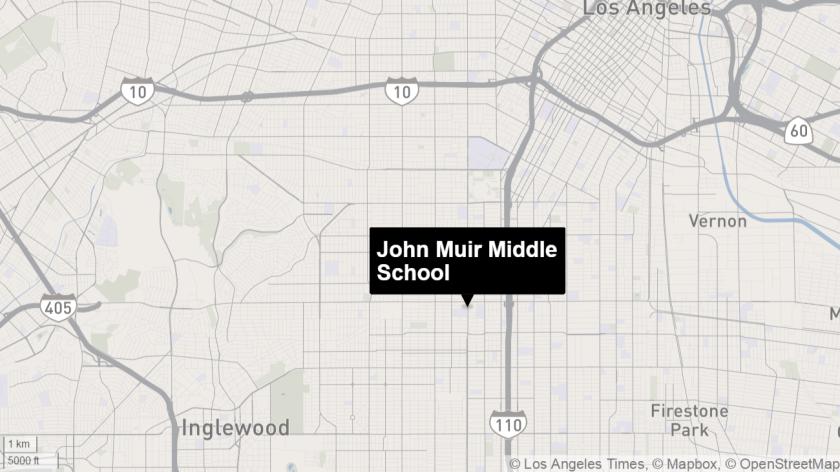 John Muir Middle School in South L.A.