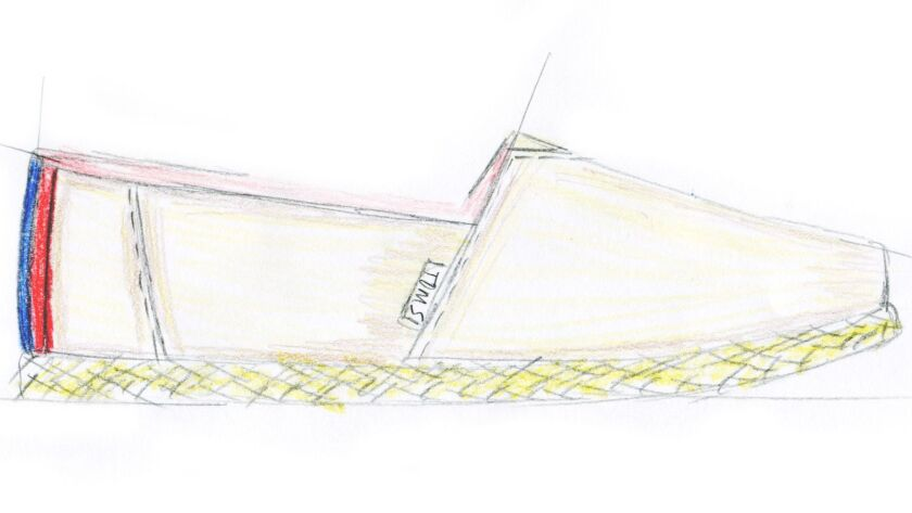 A sketch from the TOMS x Clare V. collaboration.